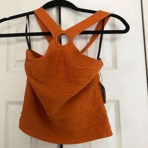 Orange Keyhole top